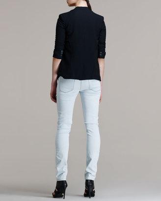 Helmut Lang HELMUT Scrunch-Sleeve Suiting Blazer