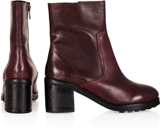 Topshop AWARD Zip Side Biker Boots
