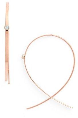 Women's Lana Jewelry 'Small Upside Down' Diamond Hoop Earrings $430 thestylecure.com