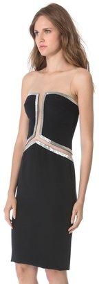 Reem acra Beaded Cutout Dress