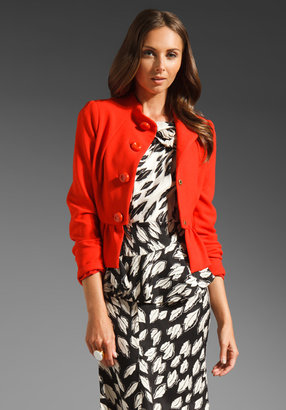 Tracy Reese Stretch Crepe Peplum Jacket