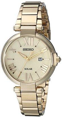 Seiko Women's SUT176 Analog Display Japanese Quartz Gold Watch $285 thestylecure.com
