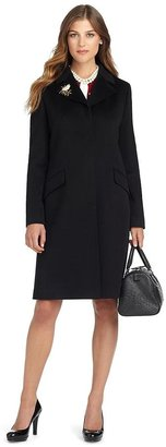 Brooks Brothers Wool Fly Front Coat