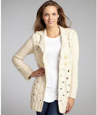 Nanette Lepore bone wool blend 'Kissy' double breasted cardigan