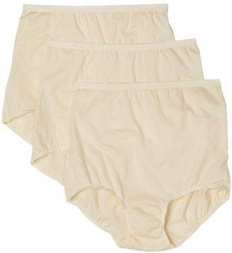 Vanity Fair Women's Lollipop Plus Size Brief Panties 3 Pack 15861 $12.30 thestylecure.com