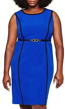 Studio 1 Belted Sleeveless Dress – Plus