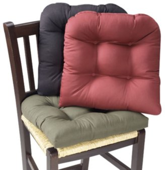 Bed Bath & Beyond Twill Chair Pad with Hot Dot Back