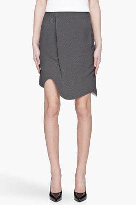 Thierry Mugler White and black Wave-Hem Skirt
