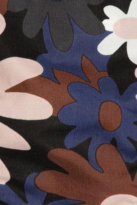 Marni Floral-print cotton triangle bikini