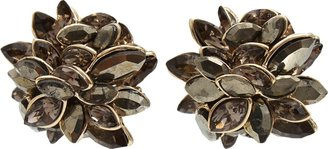 Alexis Bittar Labradorite Marquise Stone Clip Earrings