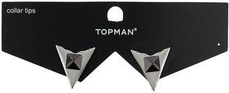 Topman Triangle Stud Collar Tips