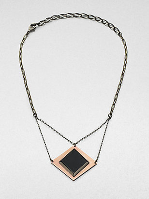 Bliss Lau Burning Eye Black Onyx Pendent Necklace