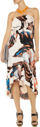 T-Bags Printed stretch-satin jersey dress