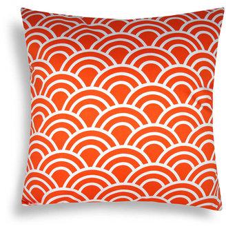 Scallop Orange Throw Pillow