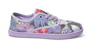Toms Lilac faded tropical youth cordones