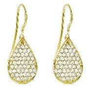 Irene Neuwirth Small Diamond Pave Teardrop Earrings - Yellow Gold