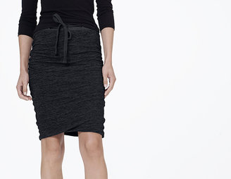 James Perse Melange Drawstring Skirt