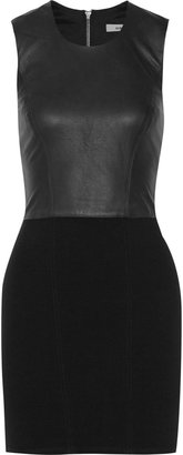 Helmut Lang Gala ponte and leather dress