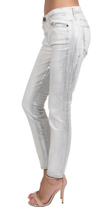 Current/Elliott Washed Out Stiletto Jean in Silver