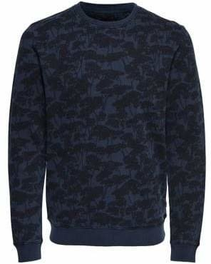 ONLY & SONS Washed Out Floral Cotton Sweater