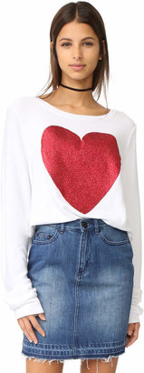 Wildfox Sparkle Heart Baggy Beach Pullover $98 thestylecure.com
