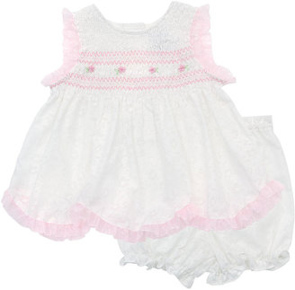 Rare Editions Baby Dress, Baby Girls Popover Sundress with Diaper Cover