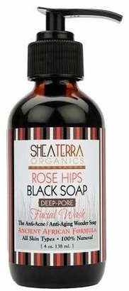 Shea Terra Rose Hips Black Soap Deep Pore Facial Cleanser