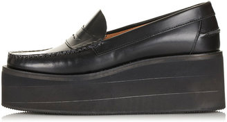 J.W.Anderson **Leather Flatform Loafers By for Topshop