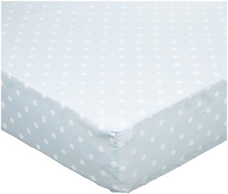 American Baby Company ABC 100% Percale Cotton Crib Sheet - Blue Dot