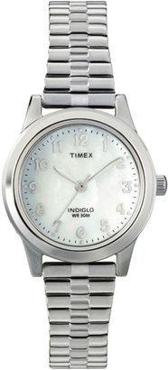 Timex Womens Round Mother-of-Pearl Watch T2M826 $47.96 thestylecure.com