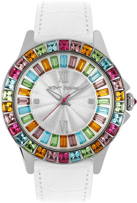 Betsey Johnson Multi Color Crystal Watch