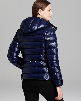 Moncler Bady Lacquer Hooded Short Down Coat