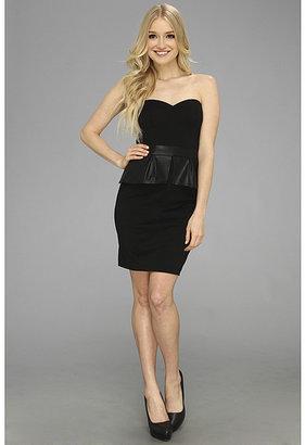 Jessica Simpson Strapless Sweetheart Dress w/ Contrast Peplum