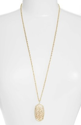 Women's Kendra Scott Rae Long Filigree Pendant Necklace $75 thestylecure.com