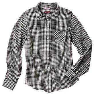 Merona Women's Herringbone Favorite Shirt - Black - XL