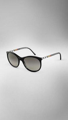 Burberry Check Detail Cat-Eye Sunglasses