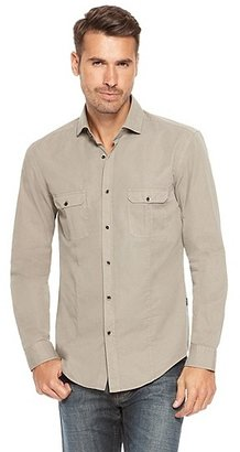 HUGO BOSS Ron Slim Fit, Cotton Button Down Shirt - Open Green