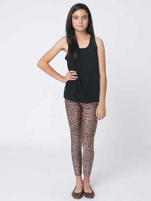American Apparel Youth Printed Nylon Tricot Legging