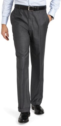 Brooks Brothers Regent Saxxon® Grey with Alternating Blue Stripe 1818 Suit