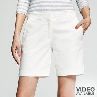 Peter Som for designation solid sateen bermuda shorts - women's