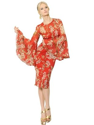 Dolce & Gabbana Silk Stretch Chiffon Dress