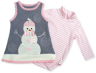 Bonnie Baby Jumper Set, Baby Girl Snowman applique Sweater jumper Set