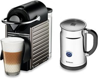 Nespresso Pixie Espresso Machine and Aeroccino Plus Bundle