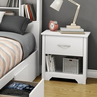 South Shore Fusion 1 - Drawer Nightstand Color: White