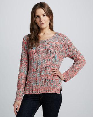 Maison Scotch Zipper-Sleeve Sweater