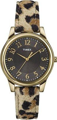 Timex Women's T2P0909J Analog Display Analog Quartz Yellow Watch $21.71 thestylecure.com