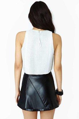 Nasty Gal Bad Behavior Faux Leather Skirt
