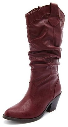 Charlotte Russe Stacked Heel Cowboy Boot