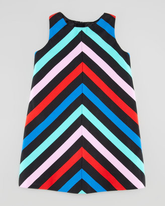 Milly Minis Sleeveless Striped-Twill Dress