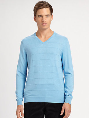 Saks Fifth Avenue Collection Ribbed V-Neck Sweater